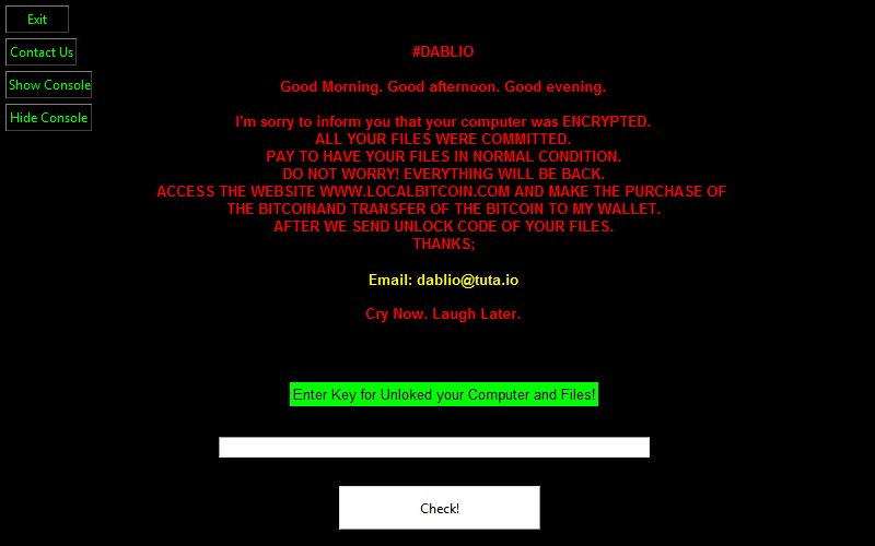 The Week in Ransomware - December 7th 2018 - WeChat Ransomware